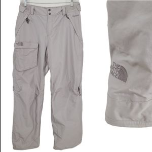 North Face Large Gray Snowboarding Snow Pants
